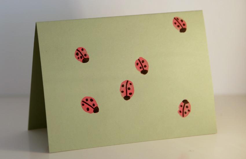Glückskäferchen Fingerfarbe