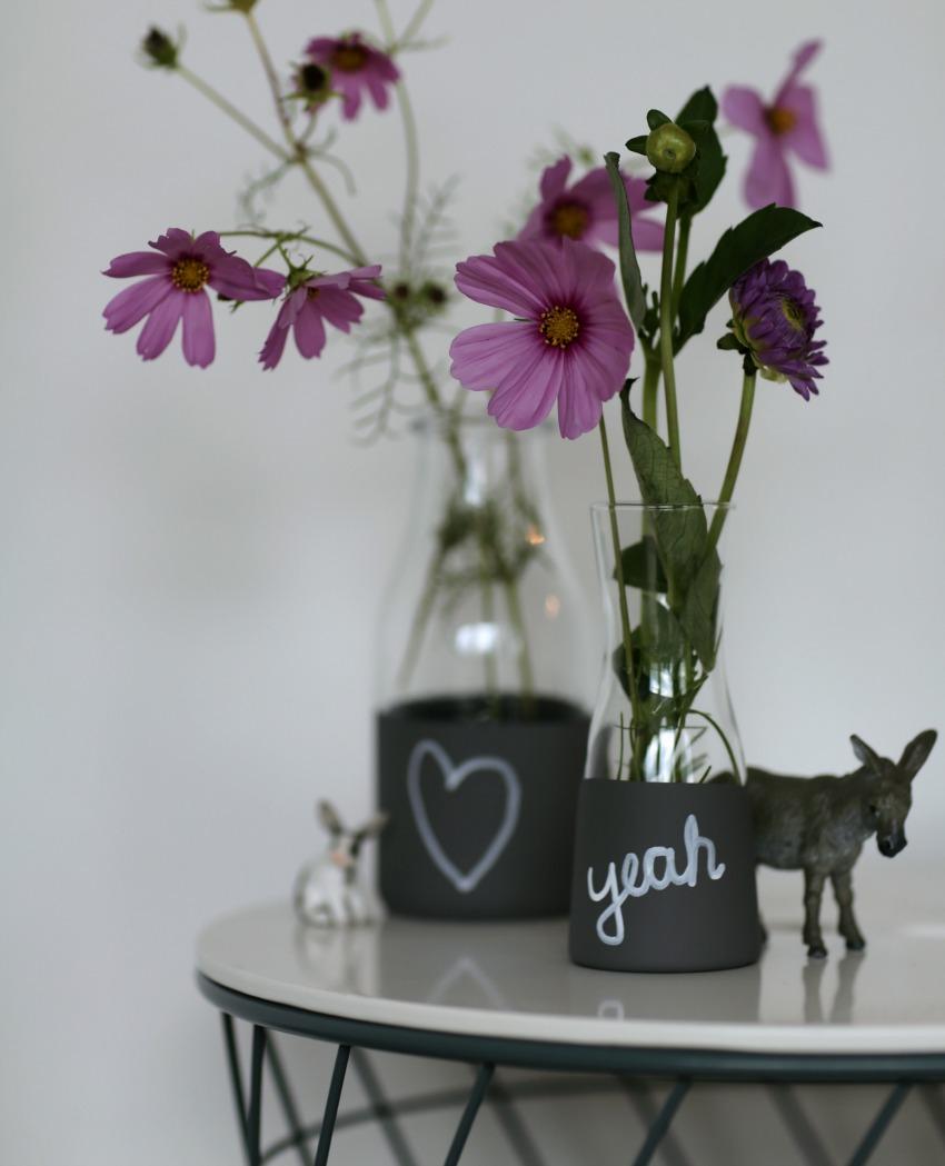 selbst gemachte tafellack vasen unser neues basteln kann. Black Bedroom Furniture Sets. Home Design Ideas