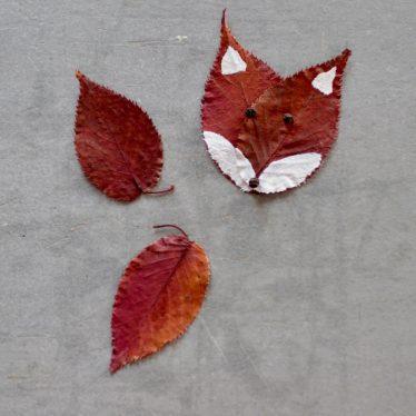 Herbstdeko: der Ruckzuck-Blätterfuchs